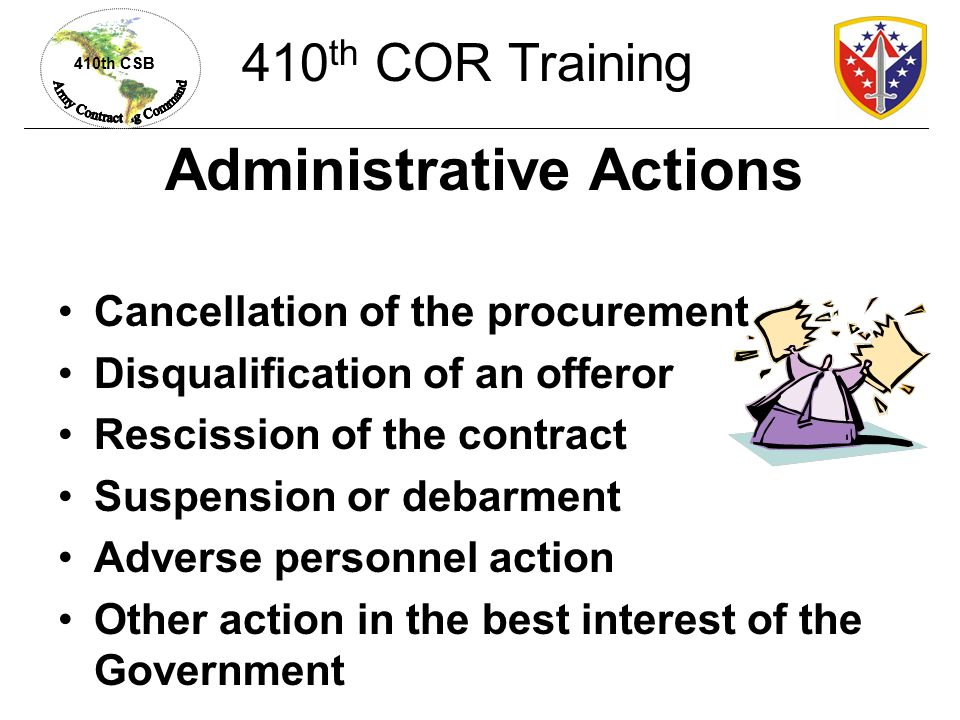 Administrative Actions