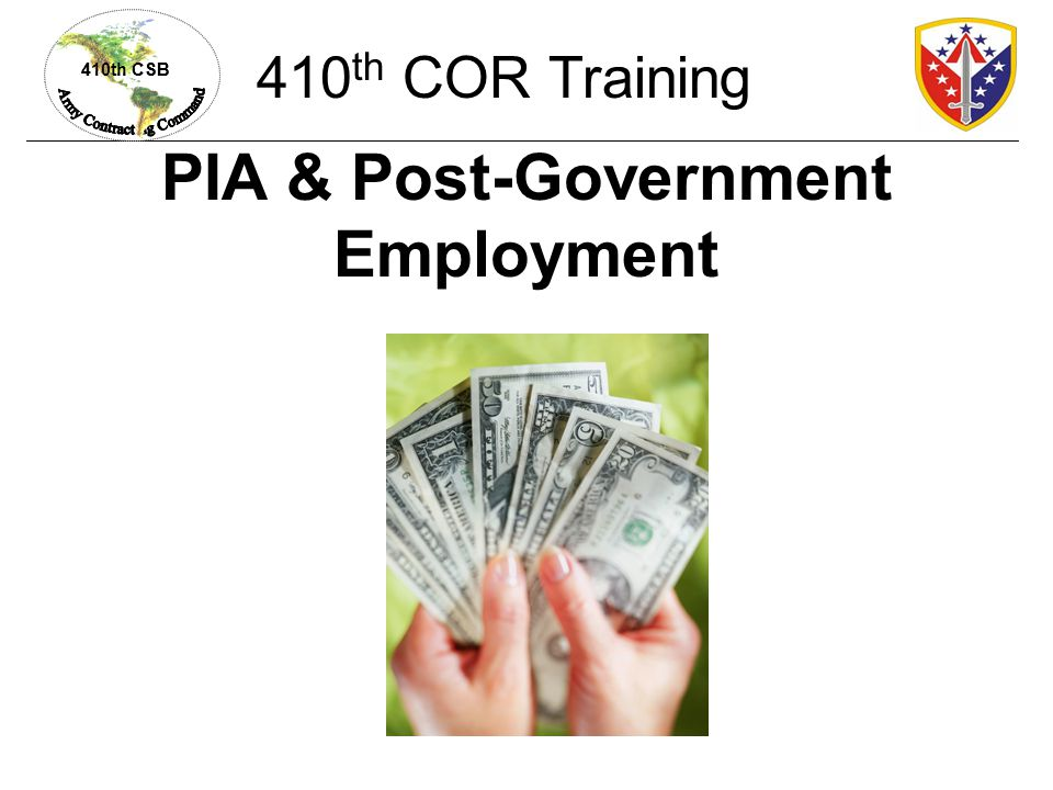 PIA & Post-Government Employment