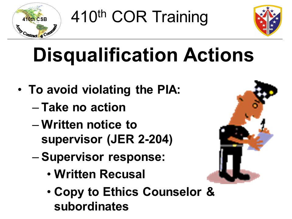 Disqualification Actions