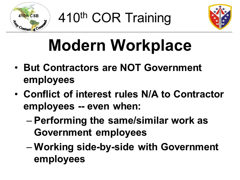 Modern Workplace 410th COR Training