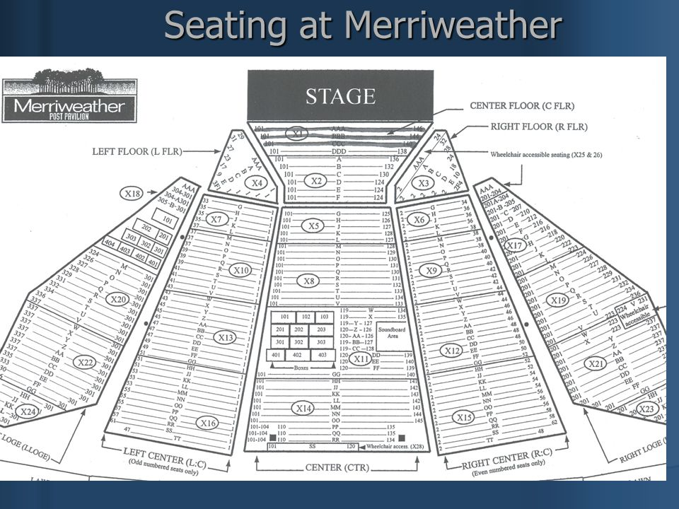 Seating at Merriweather