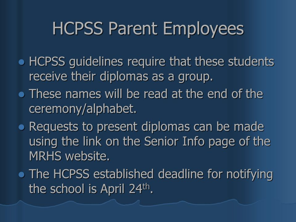 HCPSS Parent Employees