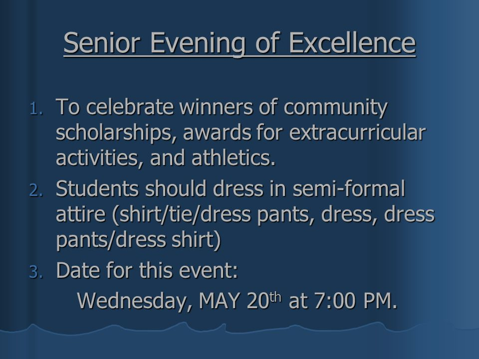 Senior Evening of Excellence