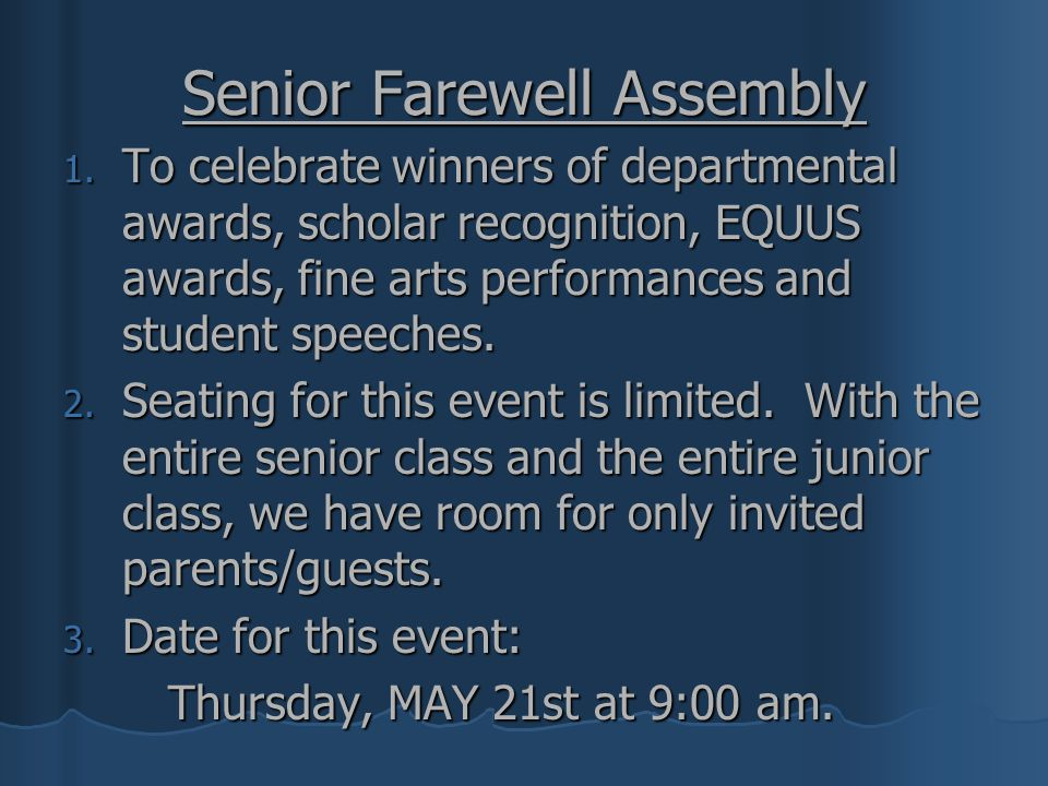 Senior Farewell Assembly