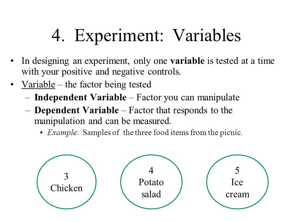 4. Experiment: Variables