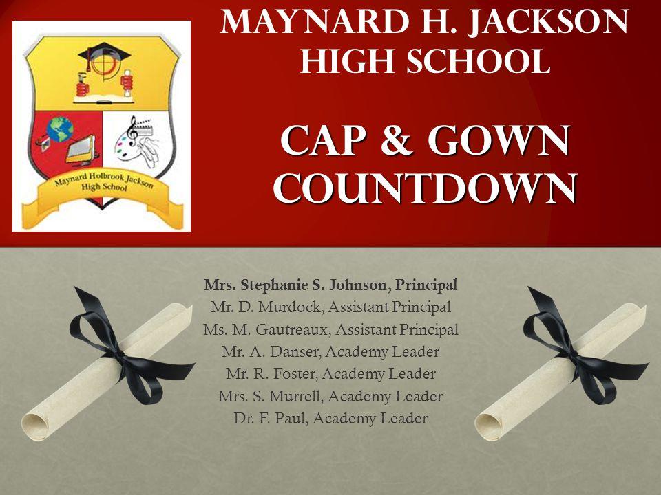 Maynard H. Jackson High School Cap & Gown Countdown