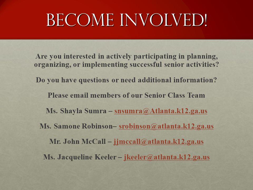 Become Involved!