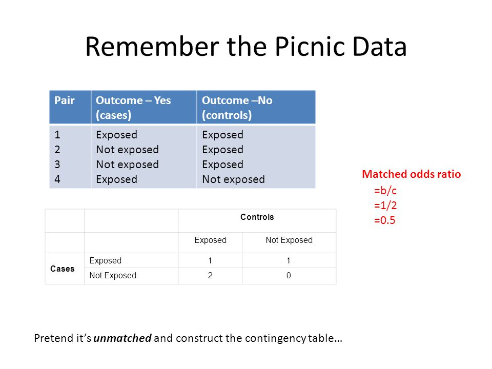 Remember the Picnic Data