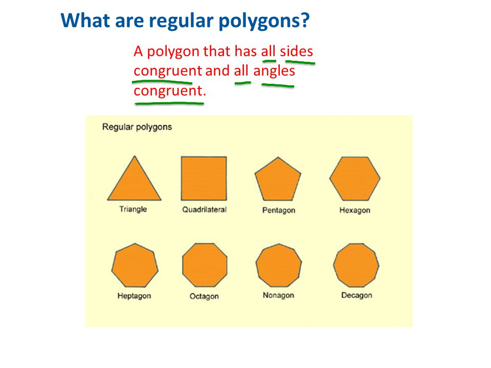 1 What are regular polygons