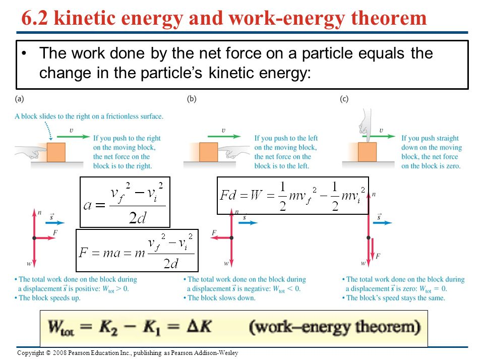 6.2 kinetic energy and work-energy theorem