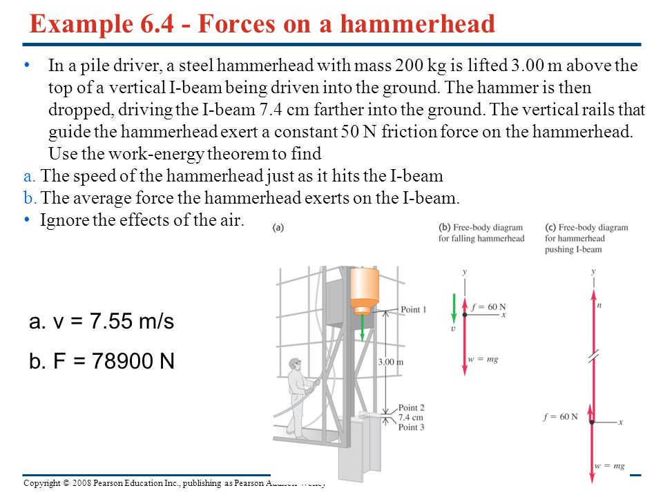 Example 6.4 - Forces on a hammerhead