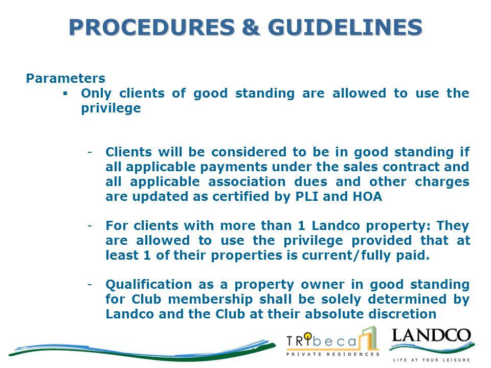 PROCEDURES & GUIDELINES