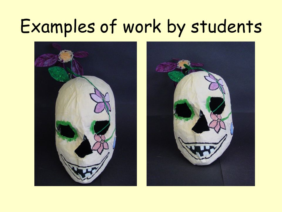 Examples of work by students