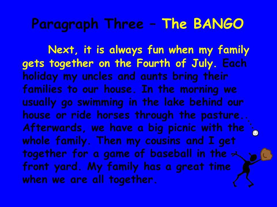 Paragraph Three – The BANGO