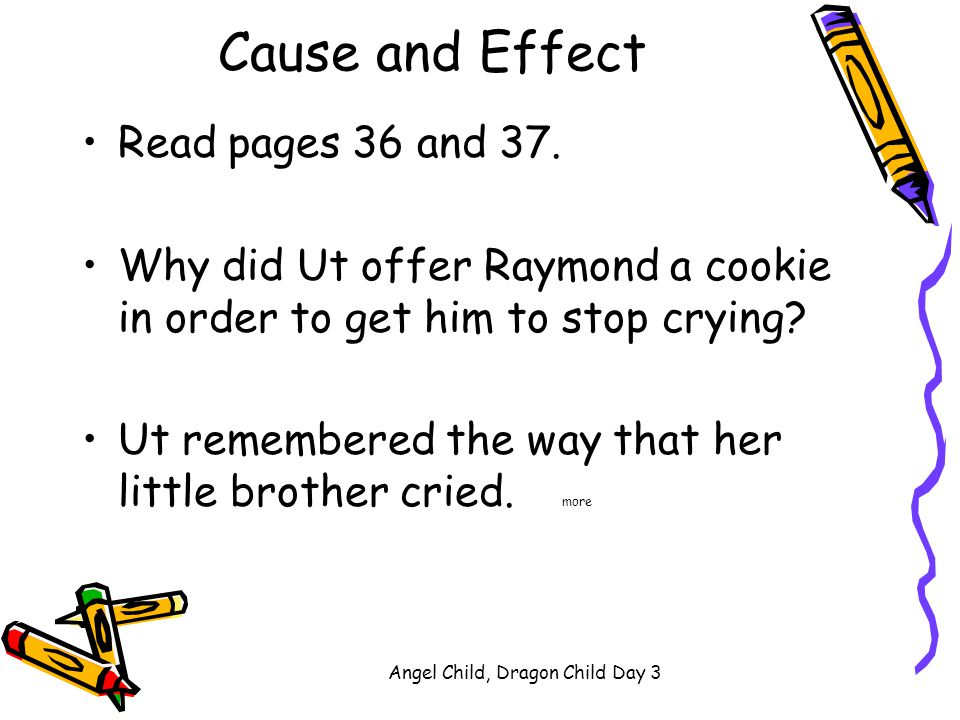 cause and effect of having a child Read chapter 6 consequences of child abuse and neglect:  the effect of childhood  for the maltreated child child abuse and neglect 6:343.