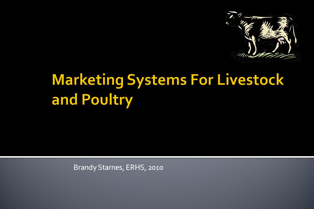 Marketing Systems For Livestock and Poultry