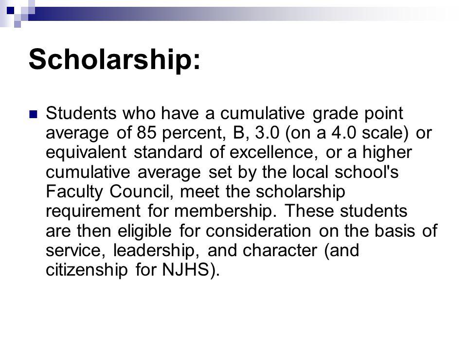 Scholarship: