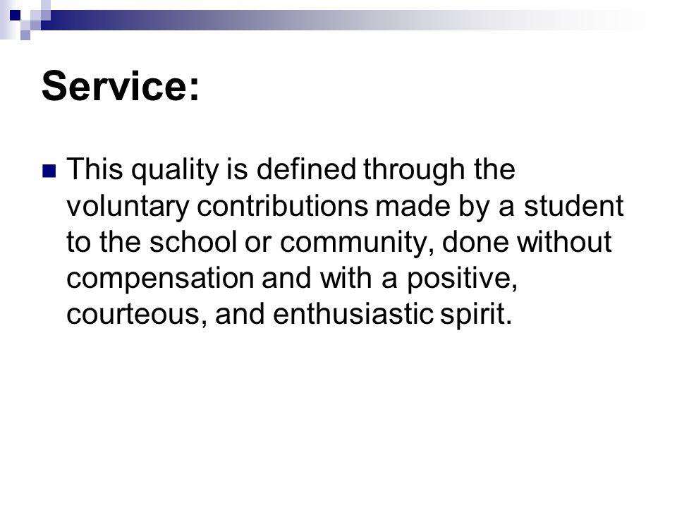Service: