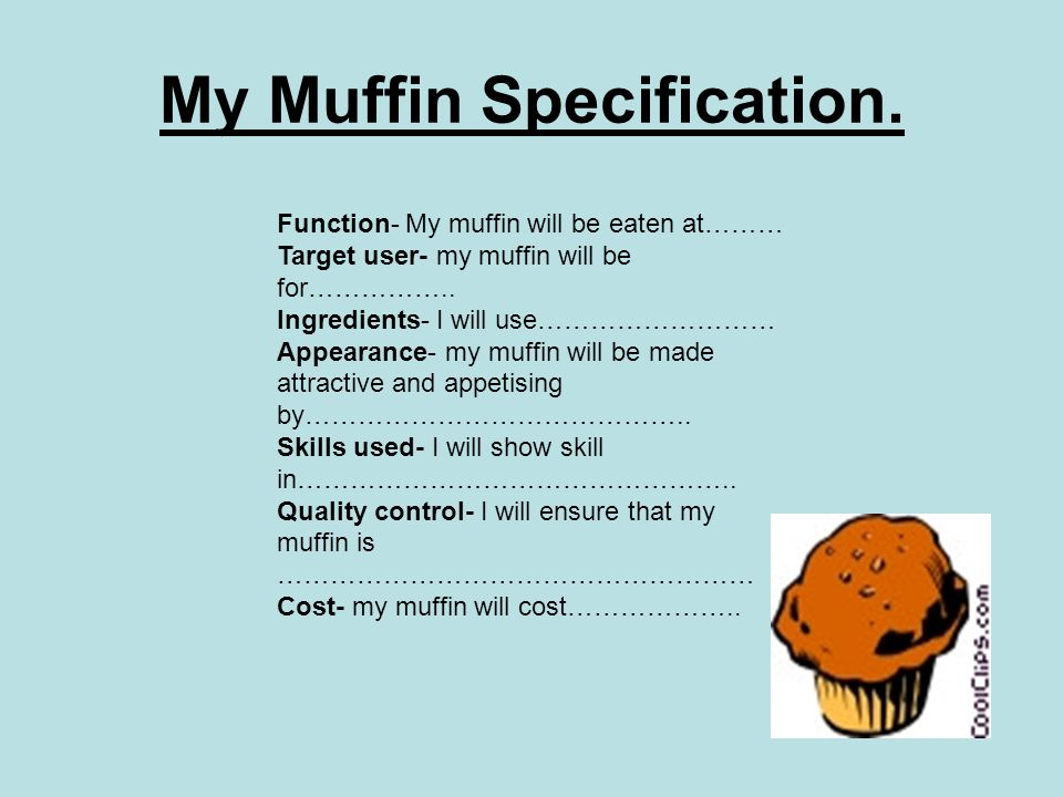 My Muffin Specification.