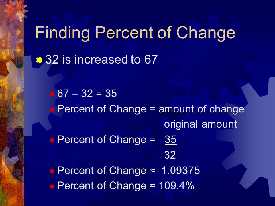 Finding Percent of Change