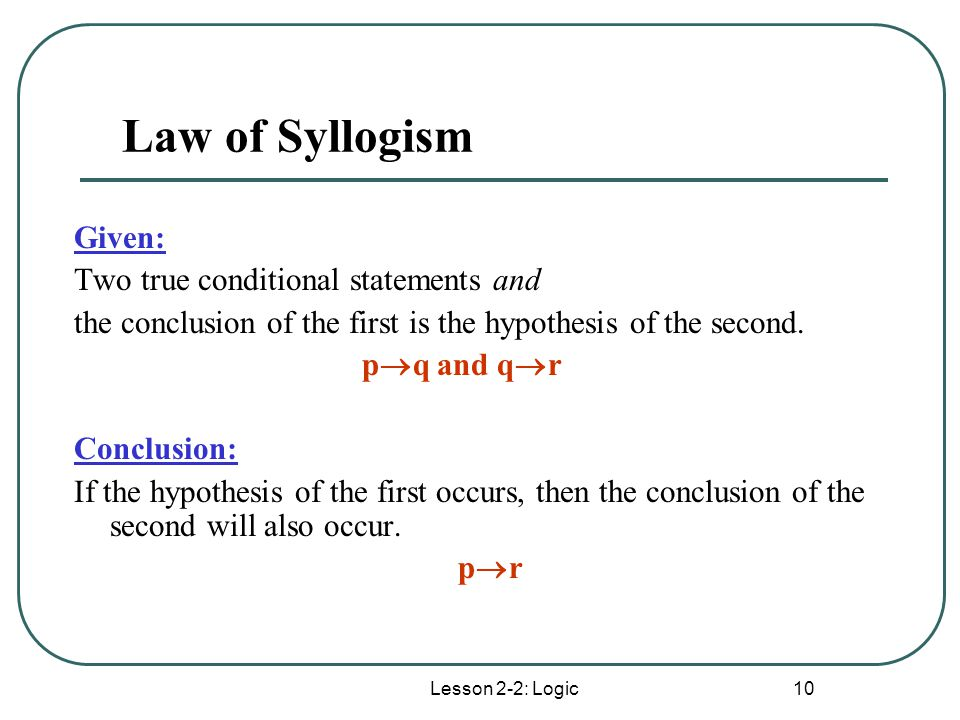 Can you give me atleast 10 examples of syllogisms?