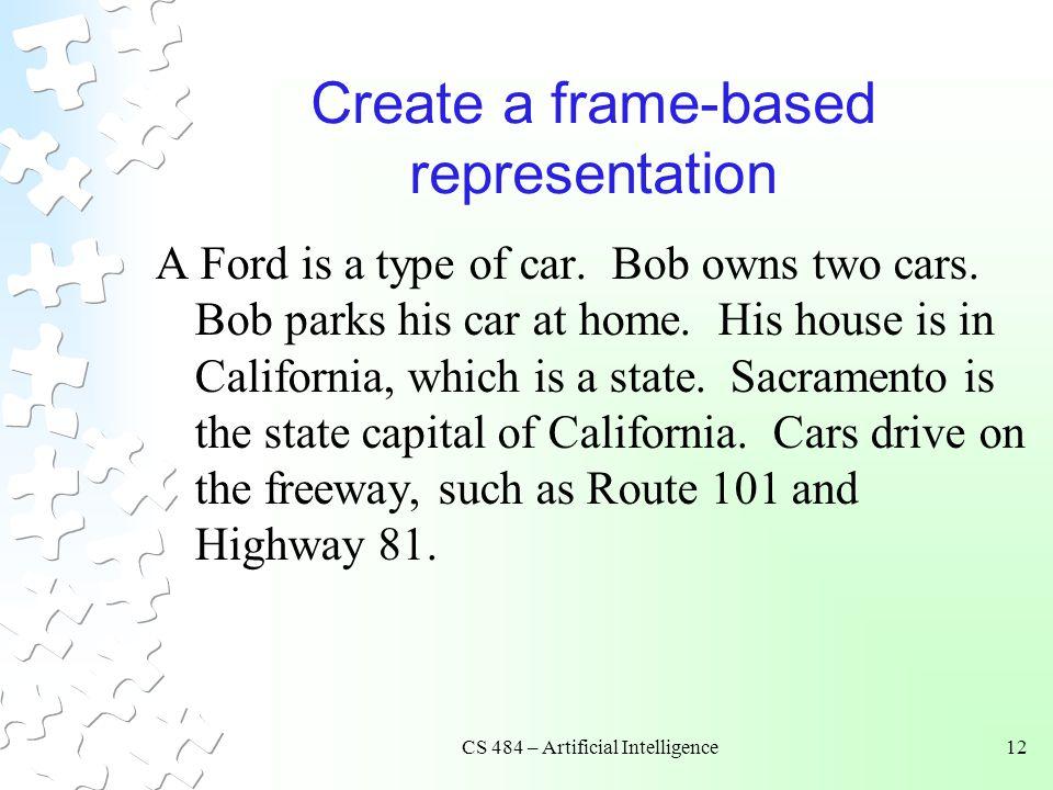 Create a frame-based representation