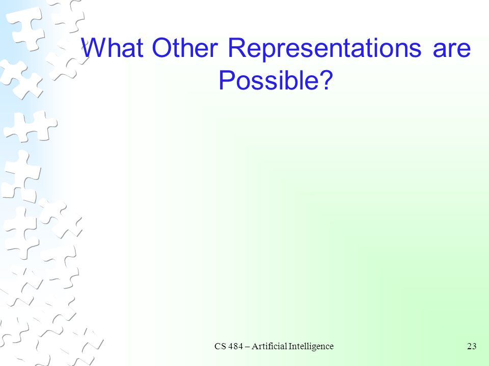 What Other Representations are Possible