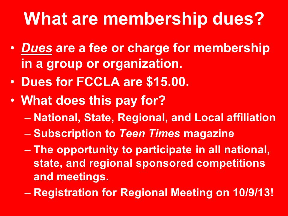 What are membership dues