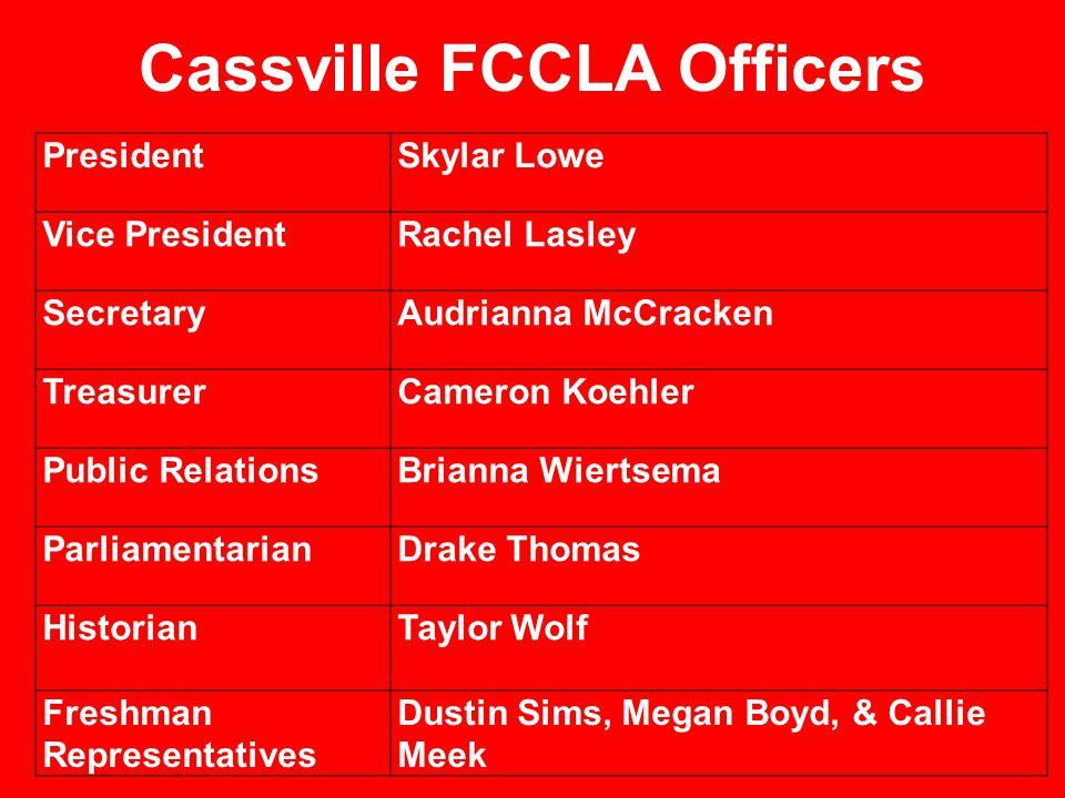 Cassville FCCLA Officers