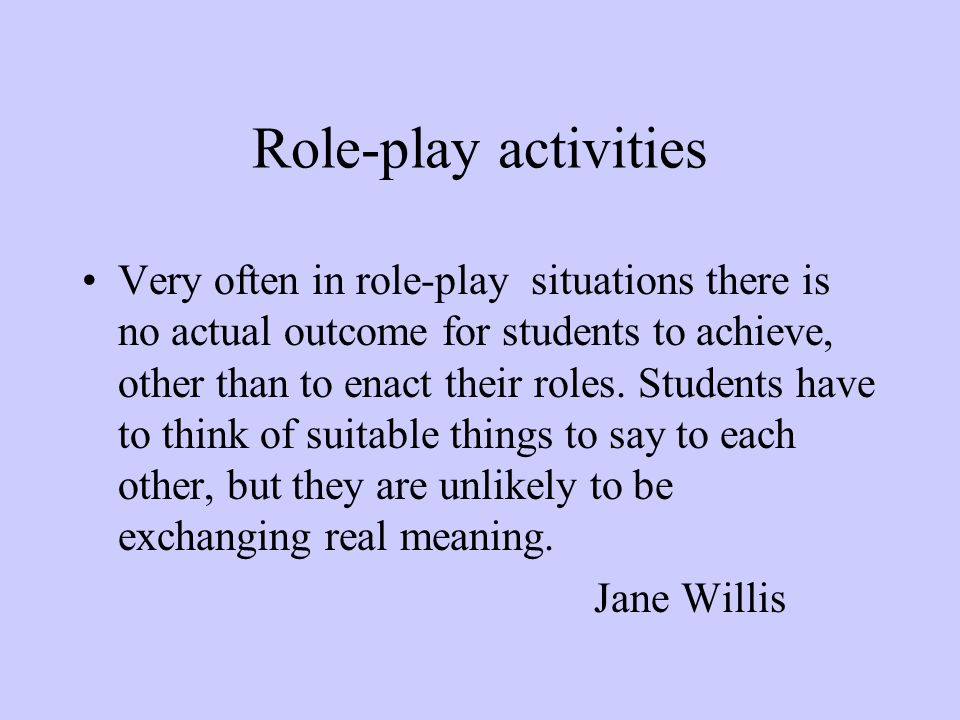 Role-play activities
