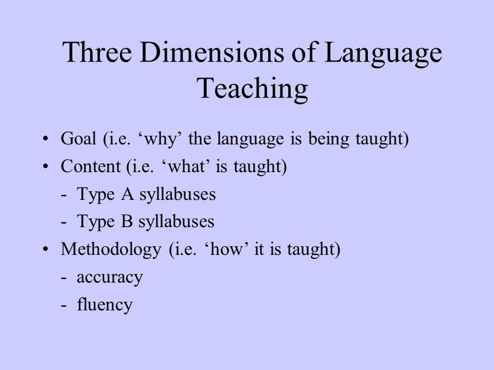 Three Dimensions of Language Teaching