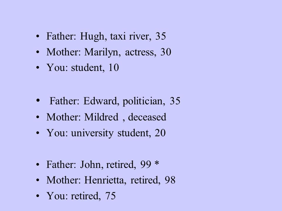 Father: Edward, politician, 35