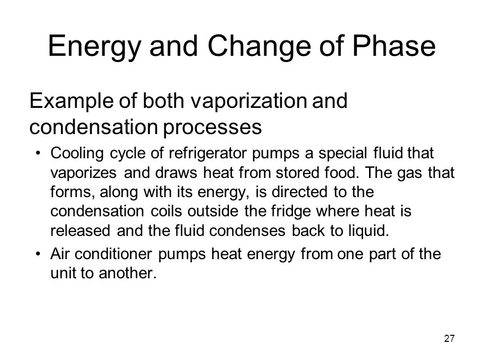 Energy and Change of Phase