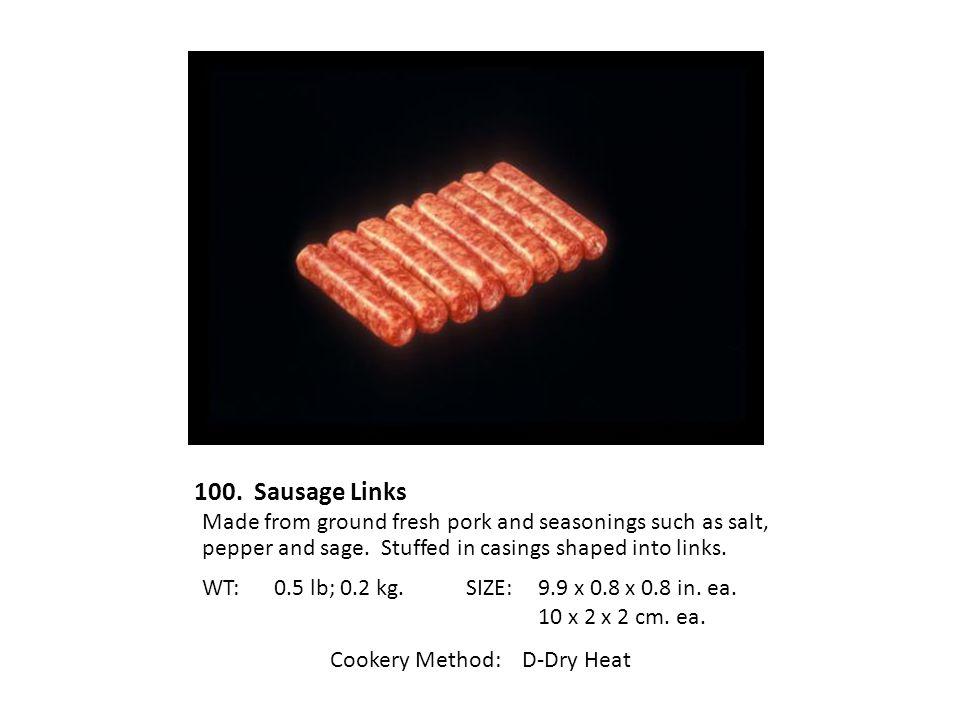 Cookery Method: D-Dry Heat