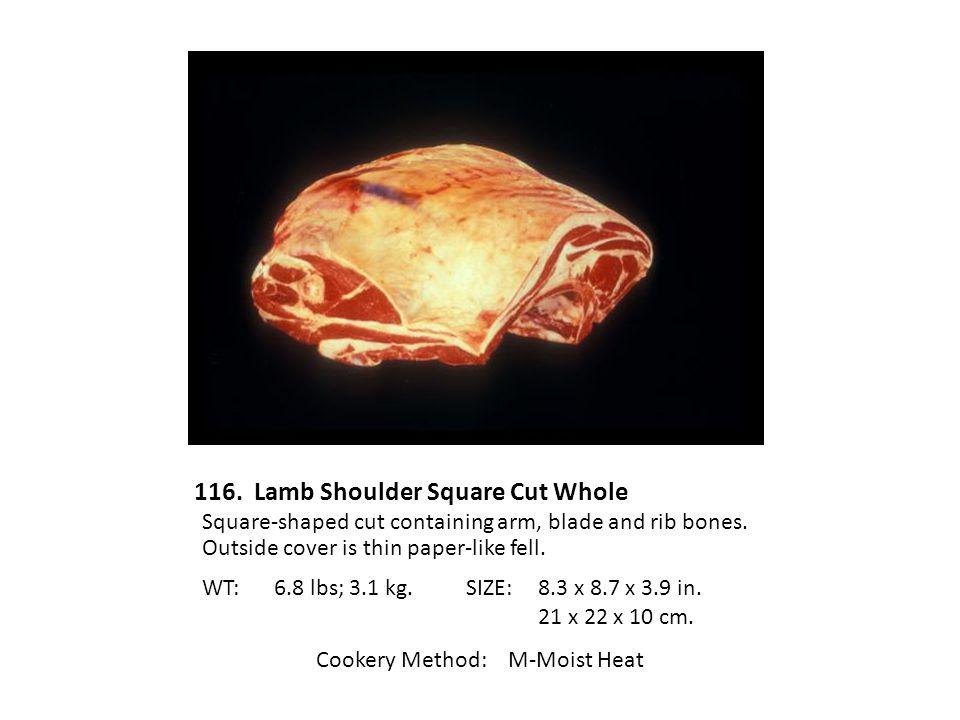 116. Lamb Shoulder Square Cut Whole