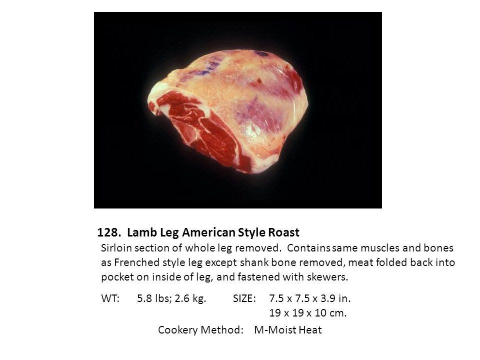 128. Lamb Leg American Style Roast