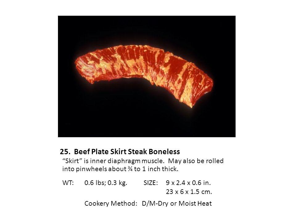 25. Beef Plate Skirt Steak Boneless