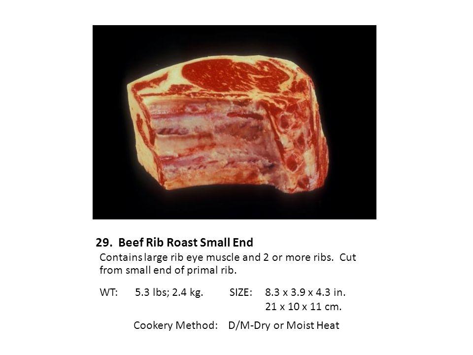 29. Beef Rib Roast Small End