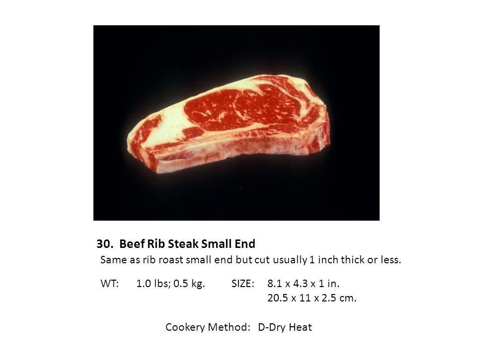 30. Beef Rib Steak Small End