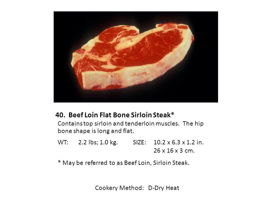 40. Beef Loin Flat Bone Sirloin Steak*