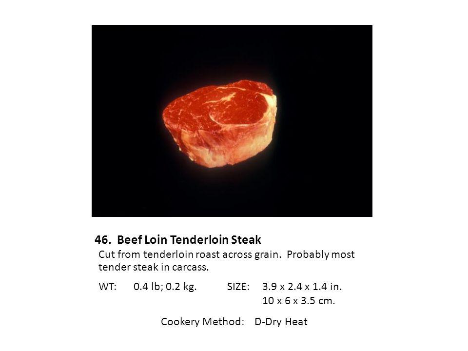 46. Beef Loin Tenderloin Steak