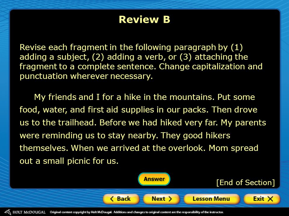 Review B