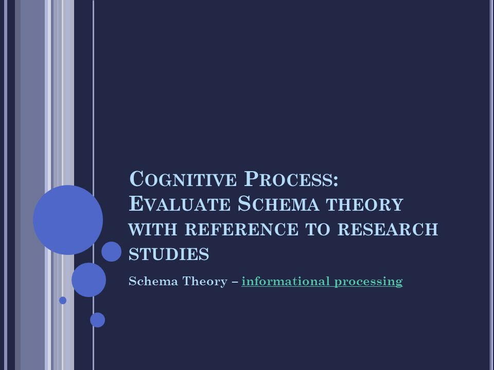 Cognitive Process: Evaluate Schema theory with reference to research studies