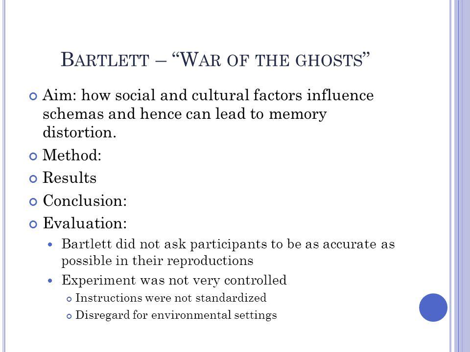 Bartlett – War of the ghosts