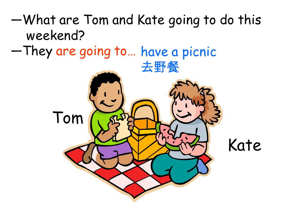 Tom Kate —What are Tom and Kate going to do this weekend