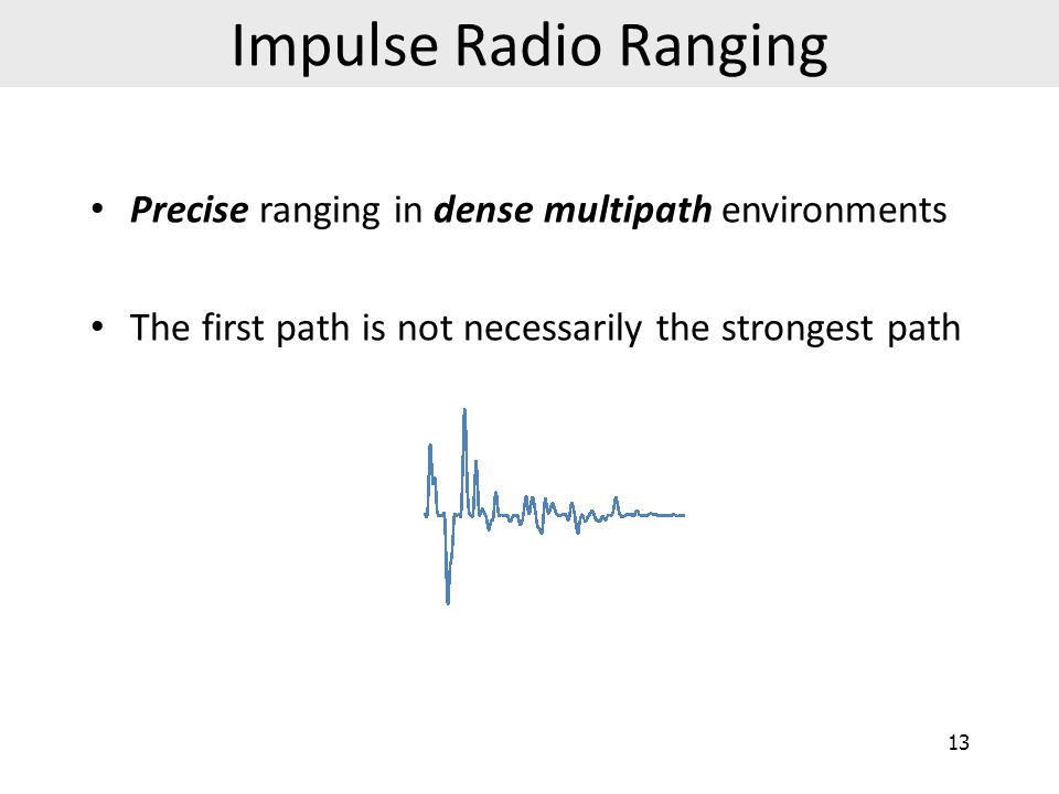 Impulse Radio Ranging Precise ranging in dense multipath environments