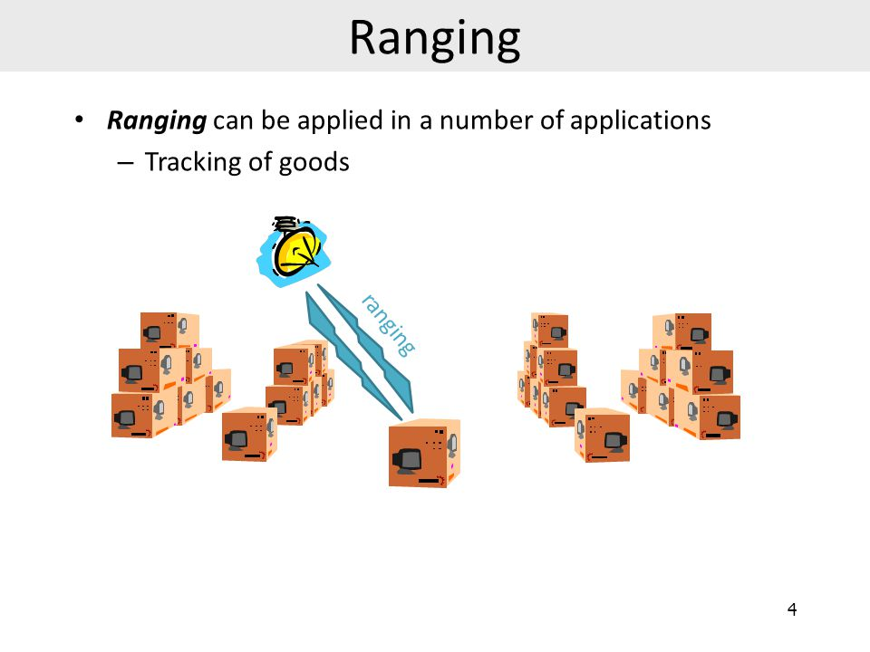 Ranging Ranging can be applied in a number of applications