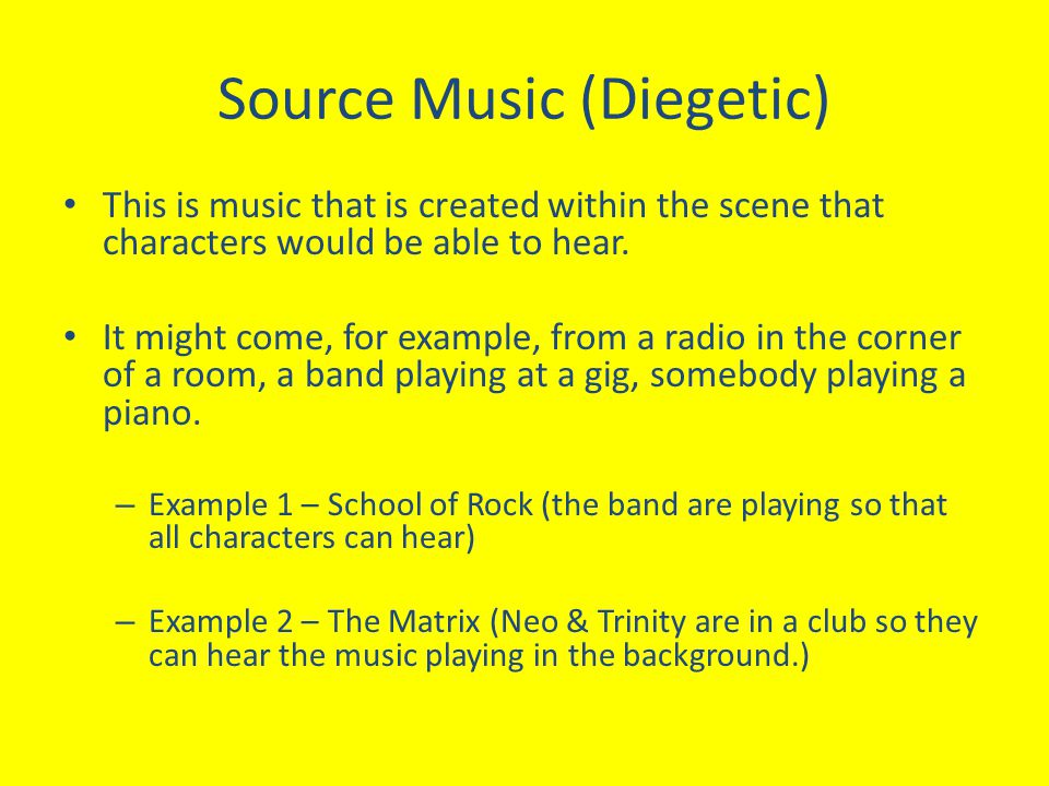 Source Music (Diegetic)