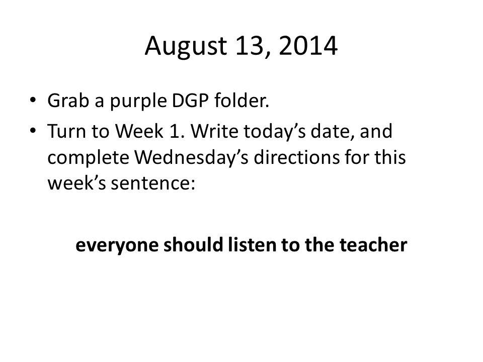 everyone should listen to the teacher
