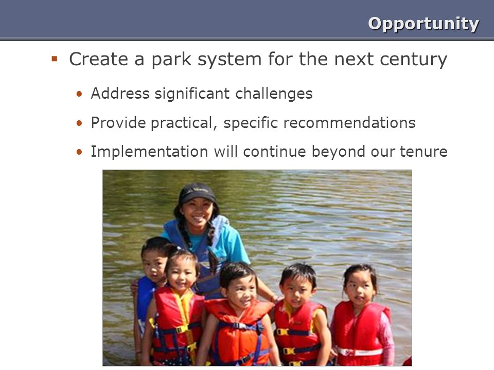 Create a park system for the next century